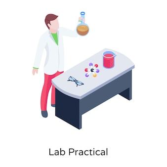 Un esame pratico di laboratorio di laboratorio vettoriale