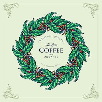 Etichetta il miglior caffè biologico