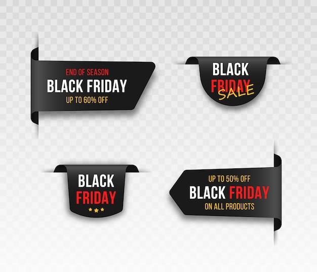 Etichette impostate per il venerdì nero