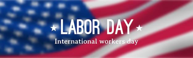 Banner orizzontale del labor day