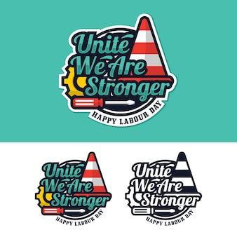 Logo della festa del lavoro