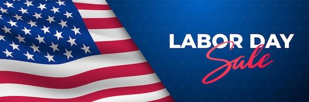Banner orizzontale di vendita della festa del lavoro