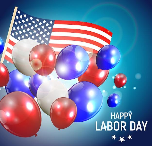 Festa del lavoro negli stati uniti sullo sfondo del poster. illustrazione vettoriale