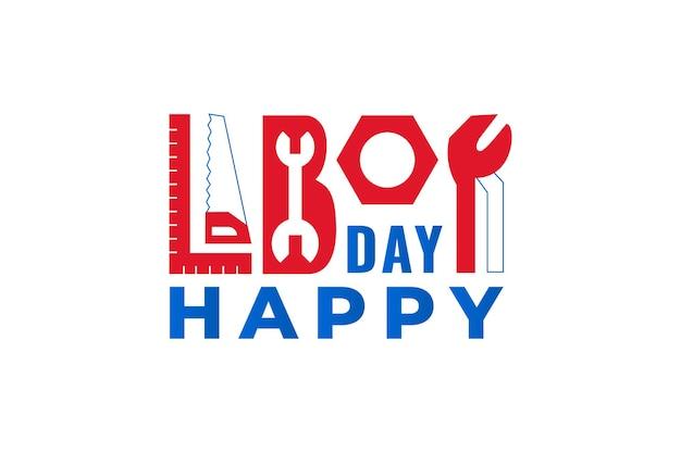 Festa dei lavoratori. illustrazione di tipografia vettoriale per la celebrazione del labor day usa.