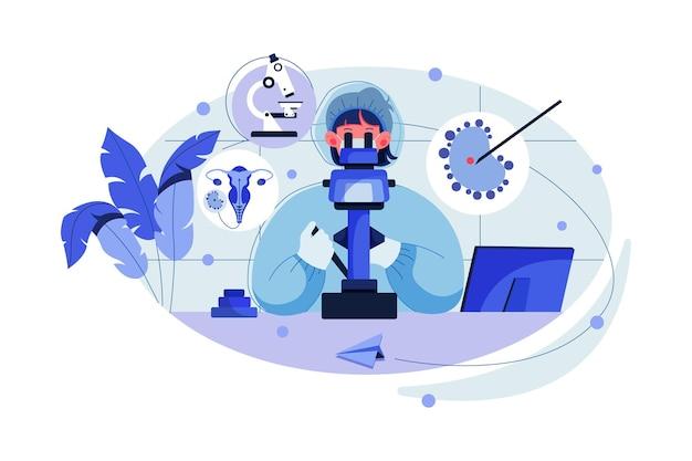 Assistente di laboratorio che esegue la procedura di fecondazione in vitro