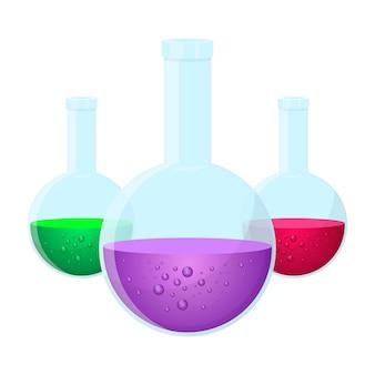 Boccette chimiche del laboratorio isolate