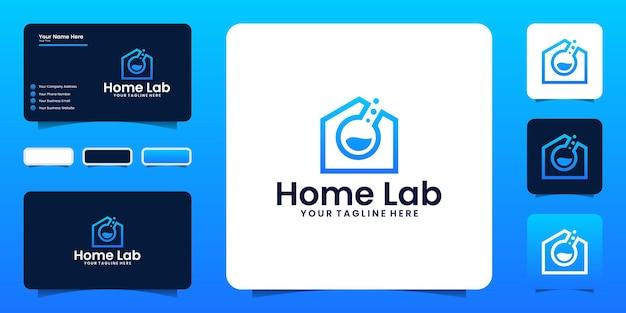 Ispirazione per il design del logo della casa del laboratorio e ispirazione per i biglietti da visita