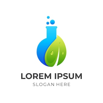 Logo del laboratorio con icone della natura