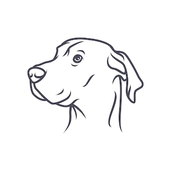 Labrador retriever dog - vector logo / icona illustrazione mascotte
