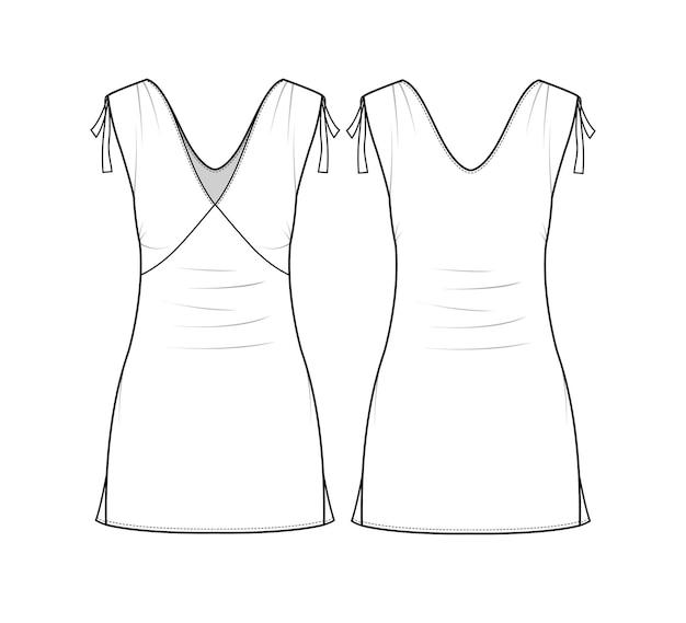 Modello di schizzo del vestito da donna