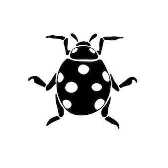 Lady beetle logo simbolo stencil design tattoo vector illustration