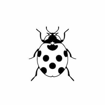 Lady beetle simbolo social media post animal vector illustration