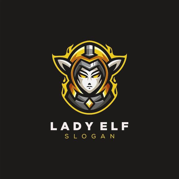 Lady elf logo di gioco