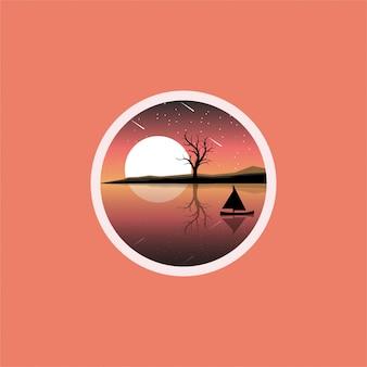 Logo design lago luna