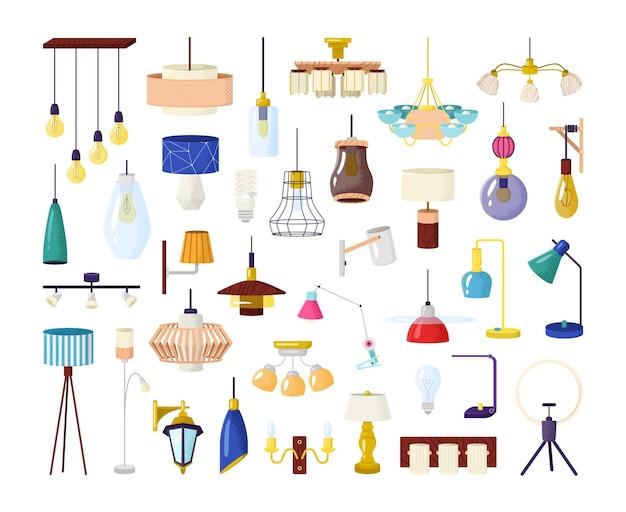 Set di elementi della lampada