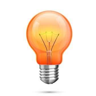 Icona di idea della lampada, luce rossa dell'oggetto su un backgroun bianco. illustrazione vettoriale