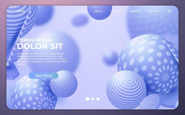 Pagina di destinazione. sito web di sfondo astratto. modello per siti web o app. design moderno. stile vettoriale astratto