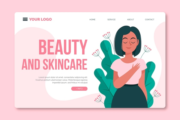 Pagina di destinazione per il trattamento di bellezza