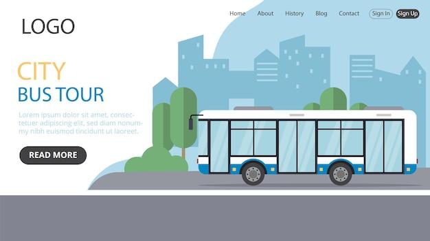 Pagina di destinazione del bus della città il tuo