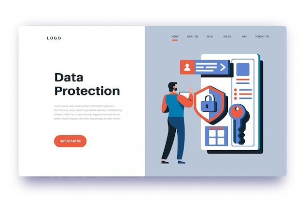 Protezione dei dati della pagina di destinazione