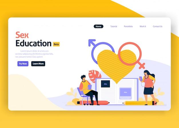 Illustrazione della pagina di destinazione dell'educazione sessuale