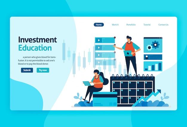 Pagina di destinazione per l'educazione agli investimenti