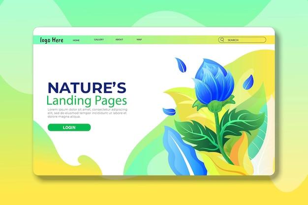Pagina di destinazione rosa blu o pagina web per il design del modello di bellezza