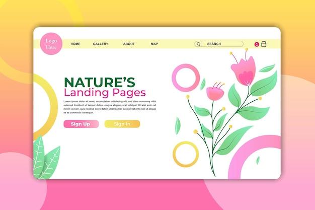 Pagina di destinazione rosa o pagina web per il design del modello di bellezza