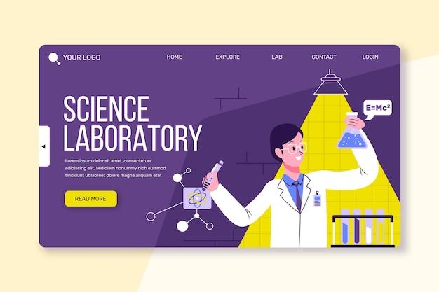 Modello di ricerca scientifica della pagina di destinazione