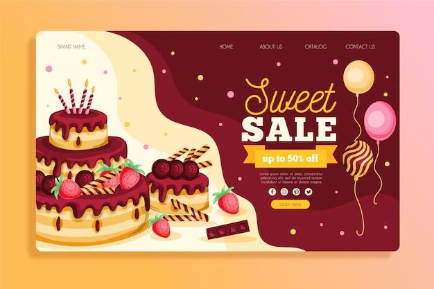 Modello di pagina di destinazione per la celebrazione della festa di compleanno