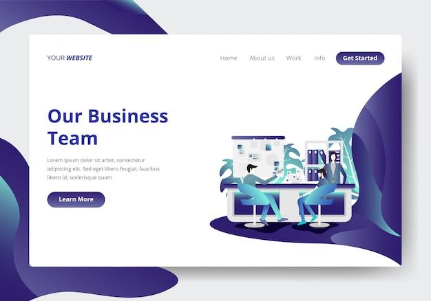 Modello di pagina di destinazione di business team concept