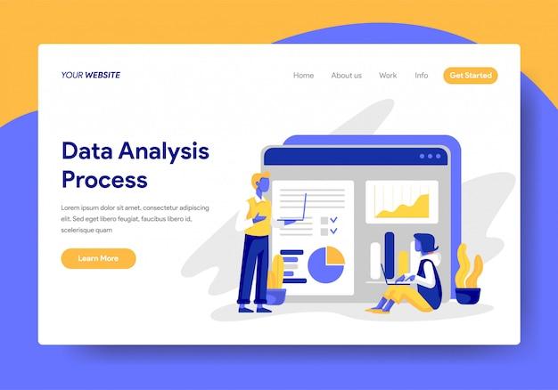 Modello di pagina di destinazione del processo di analisi dei dati