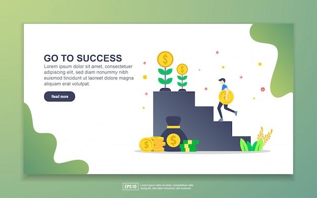 Il modello della pagina di destinazione va al successo