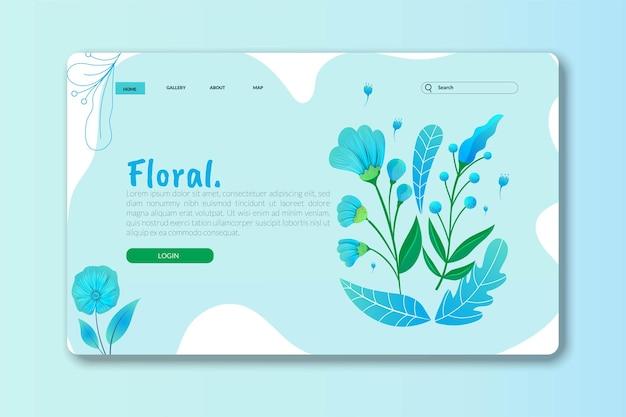 Landing page o pagina web design modelli di fiori per prodotti naturali di bellezza spa benessere