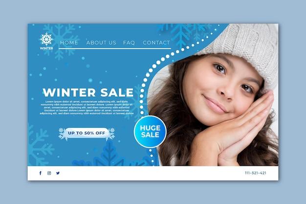 Pagina di destinazione per la vendita invernale