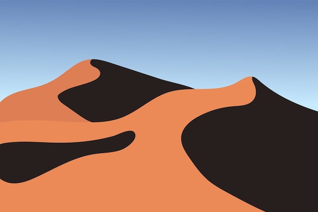 Paesaggio di sabbia del deserto in bella atmosfera calda saudita
