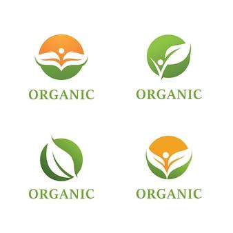 Progettazione del paesaggio giardino pianta natura ed ecologia logo vettoriale
