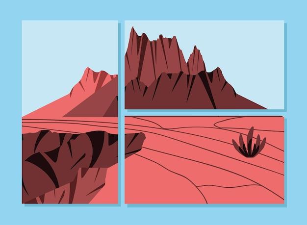 Carte di paesaggio dolce arido terra asciutta