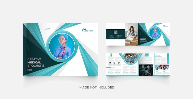 Modello di progettazione di brochure di paesaggio medico 4 pagine