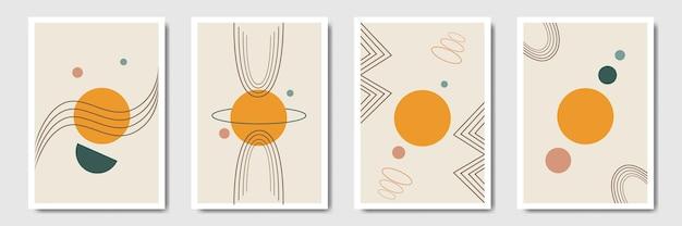 Paesaggio astratto minimalista moderno in stile bohémien