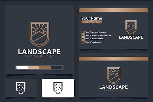 Paesaggio, naturale, ispirazione per il design del logo