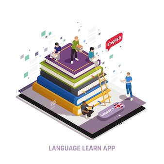 Illustrazione di corsi online di formazione linguistica