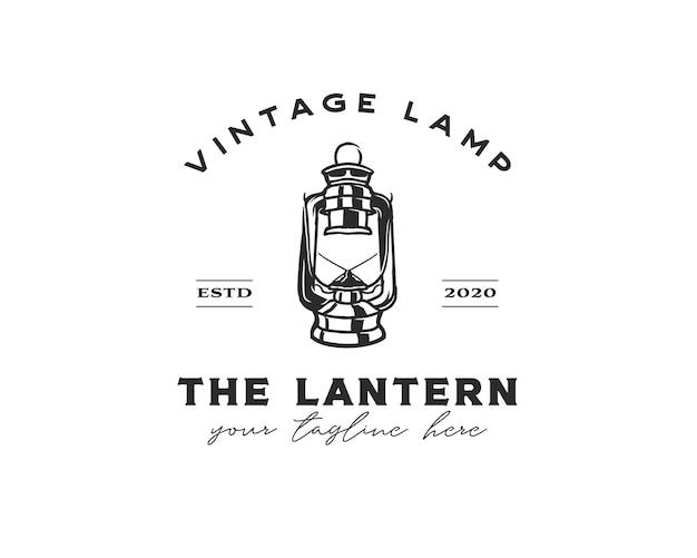 Emblema dell'annata del logo della siluetta dell'annata della lanterna