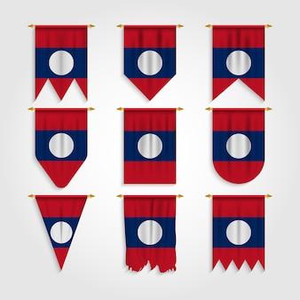 Bandiera del laos in diverse forme, bandiera del laos in varie forme