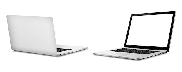 Lato anteriore e posteriore del laptop