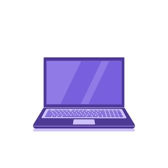 Icona del computer portatile isolato su sfondo bianco, concetto di tecnologia informatica