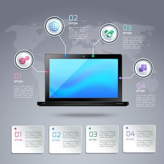 Modello di infradito del computer portatile