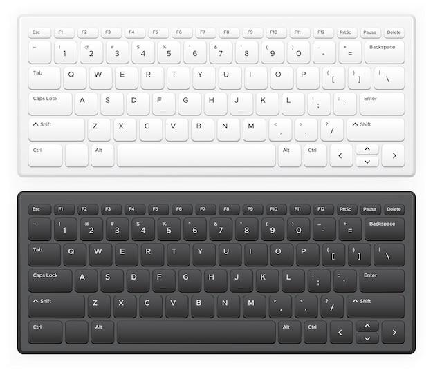 Set tastiera portatile Vettore Premium
