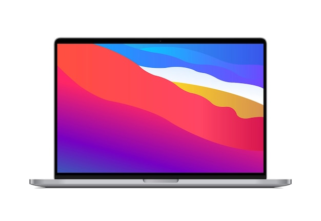 Illustrazione professionale del computer portatile
