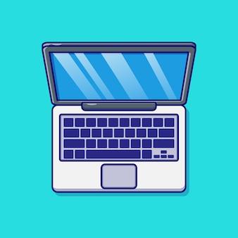 Progettazione realistica dell'illustrazione di vettore del computer portatile adatta a mock up